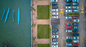 Hong Kong City dans la vue aérienne Photos libres de droits
