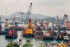 Hong Kong City Docks royalty free stock images