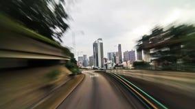 Hong Kong City Driving stock footage