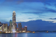 Hong Kong City at dusk Stock Photography