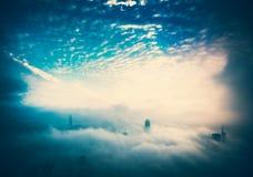 Hong Kong City en el cielo imagen de archivo