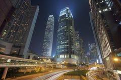 Hong Kong City en la oscuridad Fotografía de archivo libre de regalías