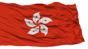 Hong Kong City Flag d'isolement Images stock