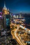 Hong Kong City het Blauwe Uur royalty-vrije stock fotografie