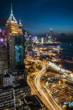 Hong Kong City la hora azul fotografía de archivo libre de regalías