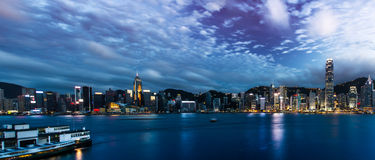 Hong Kong City Landscape Stock Afbeelding