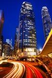 Hong Kong City Lights Cityscape Urban Scene Concept stock image