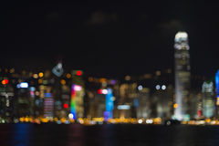 Hong Kong City Lights Stock Photo