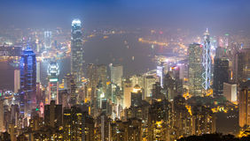 Hong Kong City In Mist máximo Fotografía de archivo libre de regalías