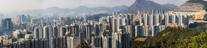 Hong Kong City na vista aérea imagem de stock royalty free