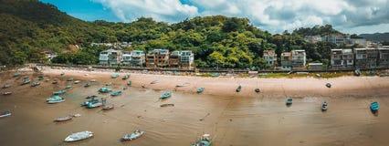 Hong Kong City na vista aérea fotografia de stock royalty free