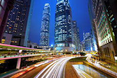 Hong Kong city at night Stock Image