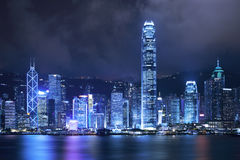 Hong Kong City Night Royalty Free Stock Photos