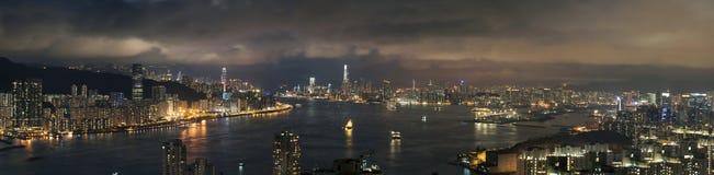 Hong Kong City Night Stock Photography