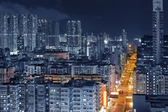 Hong Kong City Night Stock Photo