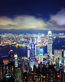 Hong Kong city at night Royalty Free Stock Photo