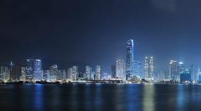 Hong Kong City Night Stock Image