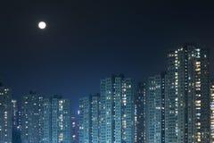 Hong Kong City Night Stock Images