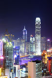 Hong Kong city night Royalty Free Stock Images