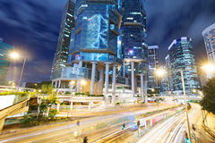 Hong Kong city at night Stock Photography