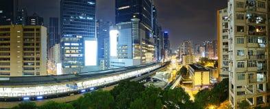 Hong Kong City night Stock Photos