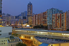 Hong Kong City Night Royalty Free Stock Photos