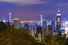 Hong Kong City Night Royalty Free Stock Photography