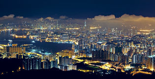 Hong kong city night Stock Image