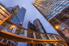 Hong Kong city night scene Stock Photography