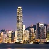 Hong Kong city at night Royalty Free Stock Photo