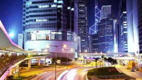 Hong Kong City Night Timelapse. Åtsittande sköt fortfarande. stock video