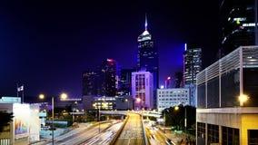 Hong Kong City Night Timelapse. lager videofilmer