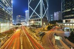 Hong Kong City at night Royalty Free Stock Image