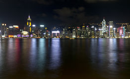 Hong Kong City Night View Lizenzfreies Stockfoto