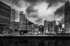 Hong Kong City och Skyscape Royaltyfria Foton