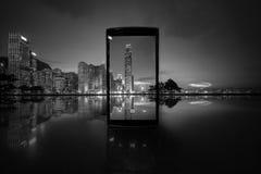 Hong Kong City och Skyscape Royaltyfria Bilder