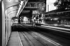 Hong Kong City och Skyscape Arkivbild