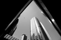 Hong Kong City och Skyscape Arkivbilder