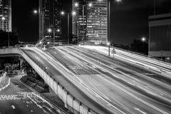 Hong Kong City och Skyscape Royaltyfri Fotografi