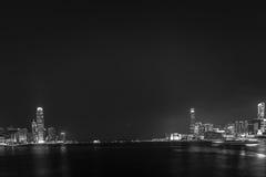 Hong Kong City och Skyscape Fotografering för Bildbyråer