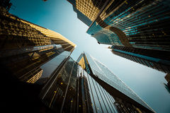 Hong Kong City och Skyscape Arkivfoto