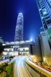 Hong Kong city with roadway Stock Photo