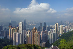 Hong Kong city scape. Hong Kong top view from victoria peak stock images