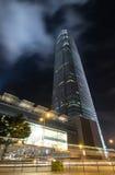 Hong Kong City Scape And mist i himmel Arkivbilder