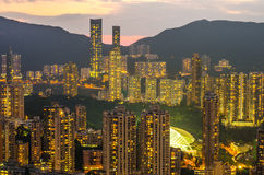 Hong Kong city Skyline from braemar hill Royalty Free Stock Photo