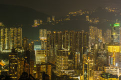 Hong Kong city Skyline from braemar hill Royalty Free Stock Photos
