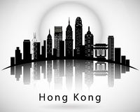 Hong Kong City Skyline Design moderne Photo stock