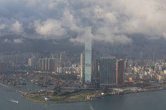 Hong Kong city skyline.ICC Royalty Free Stock Image