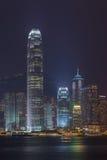 Hong Kong city skyline. HONG KONG - June 14: Hong Kong city skyline at night over Victoria Harbor June 14 2014. Victoria Harbour is a natural landform harbour Stock Photography
