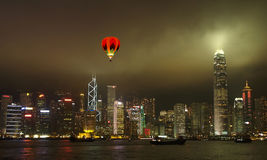 The Hong Kong City Skyline Stock Image